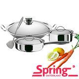 【瑞士Spring】頂級經典35cm炒鍋聰明媽咪超滿意特惠組