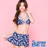 【SUMMERLOVE 夏之戀】淑女風比基尼三件式泳衣E12712