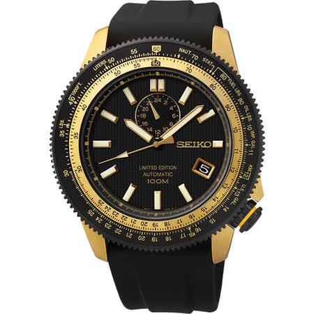 SEIKO Superior 4R37 經典風範限量機械腕錶-黑 4R37-00B0K