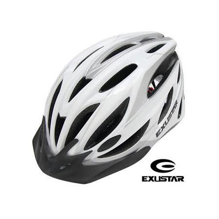 EXUSTAR 24孔自行車專用安全帽 (白)L