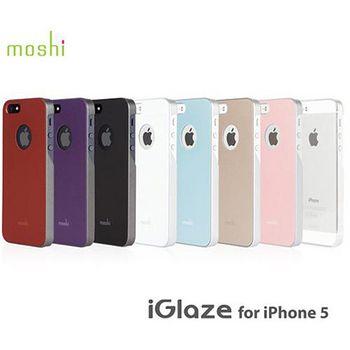 moshi iGlaze for iPhone 5S/5 超薄時尚保護背殼 石墨黑99MO061001