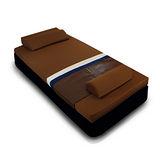 [黎安思-Zean`s] 頂級竹炭感溫釋壓記憶床墊(單人8cm)咖啡金