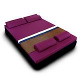 [黎安思-Zean`s] 頂級竹炭感溫釋壓記憶床墊(雙人6cm)迷戀紫
