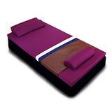 [黎安思-Zean`s] 頂級竹炭感溫釋壓記憶床墊(單人6cm)迷戀紫