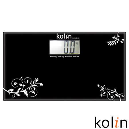 歌林Kolin-時尚玻璃電子秤(黑) KWN-SH05