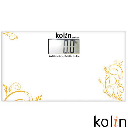 歌林Kolin-時尚玻璃電子秤(白) KWN-SH05