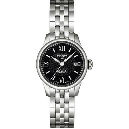 TISSOT 力洛克日內瓦波紋鍊帶女錶(黑/25mm) T41118353
