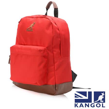 KANGOL 英式新潮時尚後背包袋鼠繡LOGO可置放15吋筆電後背包-紅色 KG1101-L