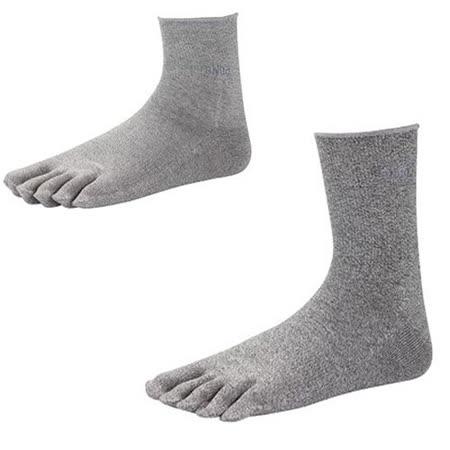 【SNUG 健康除臭襪】 除臭抗菌加倍 銀纖五指襪 灰色 S022