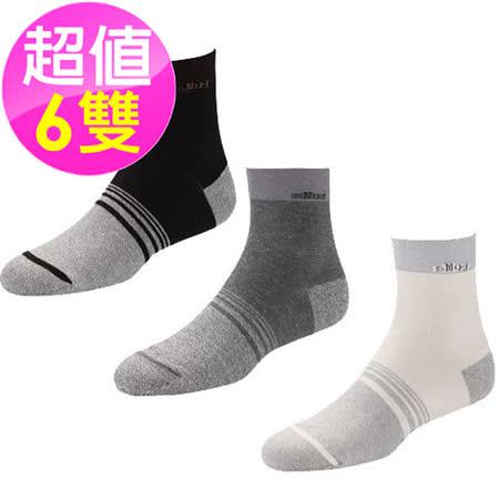 【SNUG 健康除臭襪】 6雙入 獨特纖維 抗菌除臭二合一 女款頂級銀纖維襪 S017-S019