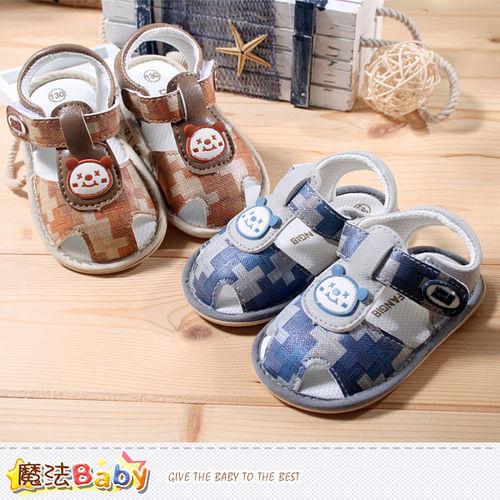 ^( 車^)魔法Baby^~男寶寶涼鞋^~ 專櫃正品寶寶外出鞋^~sh3898