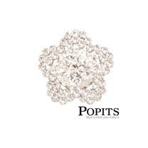 美國POPITS活動水晶扣飾-大花辦( 銀、黑、紅 3色)