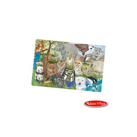 美國瑪莉莎 Melissa & Doug 大型地板拼圖-保育類動物【48片】