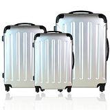 【城市旅行】輕硬殼PC限量款三件套行李箱/登機箱組