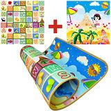 【BabyTiger虎兒寶】加大尺寸!雙面 1CM 環保遊戲爬行地墊-水果字母+海灘款