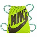 【Nike】2014魅力大Logo標誌檸檬綠色小運動背袋【預購】