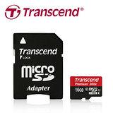 創見 16GB microSDHC UHS-1 Class10 記憶卡(附轉卡)