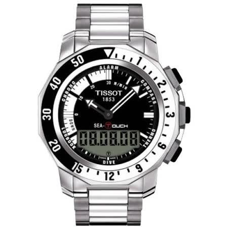 TISSOT SEA-TOUCH 怒海潛將觸控潛水錶(黑/44mm) T0264201105100