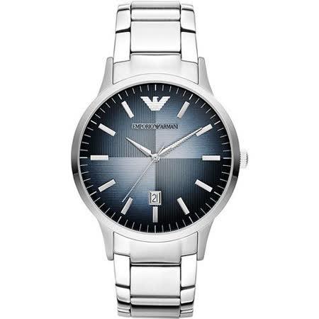 ARMANI 義式光輝時尚都會腕錶-藍 AR2472