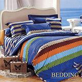 【BEDDING】牛仔很忙 100%精梳棉雙人涼被床包組