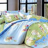 【BEDDING】好朋友 100%精梳棉雙人涼被床包組