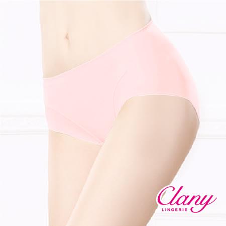 【可蘭霓Clany】健康抑菌竹炭中腰M-XL無痕內褲 甜蜜粉 2156-31