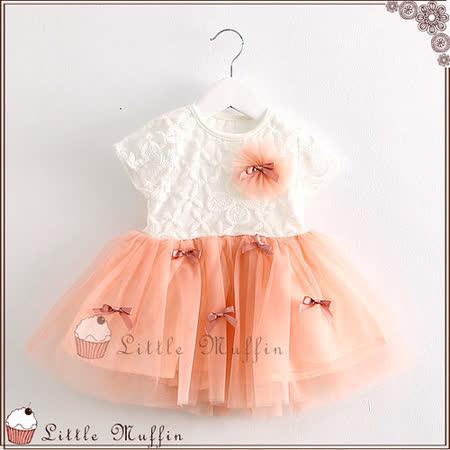 蓬蓬裙洋裝 蕾絲花朵蝴蝶結多層連身裙 專櫃品質 SUM189