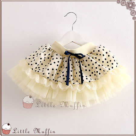 蓬蓬裙 多層紗水玉蝴蝶結短裙 鬆緊帶 有內裡 OTH026