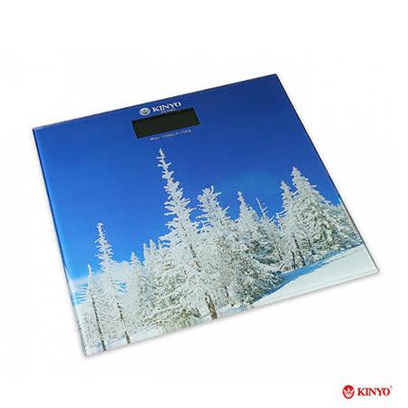 【KINYO】大自然造型電子體重計(DS-6582)