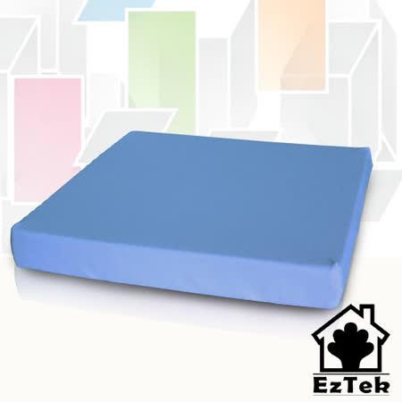 [輕鬆睡-EzTek]舒適緩壓坐墊-水藍色