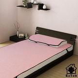 [輕鬆睡-EzTek] 涼感!和風紙纖-單人套組-含枕套X1(粉紅色)