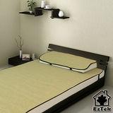 [輕鬆睡-EzTek] 涼感!和風紙纖-單人加大套組-含枕套X1(草綠色)