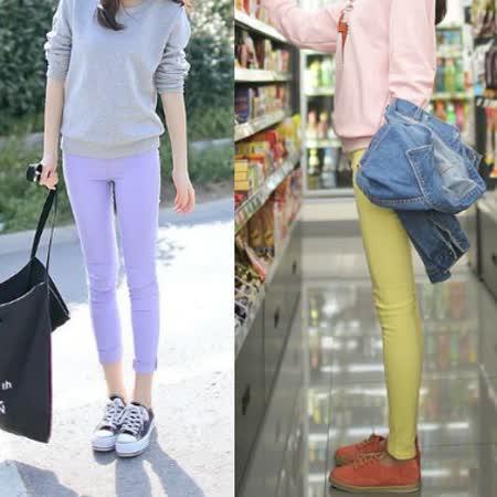 Kate❤Classic 新潮繽紛淺色彈力超顯瘦七分褲與九分褲(LB00065)