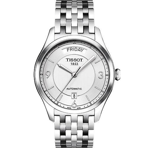TISSOT T~One Gent 內斂光輝機械腕錶^(銀38mm^) T03843011