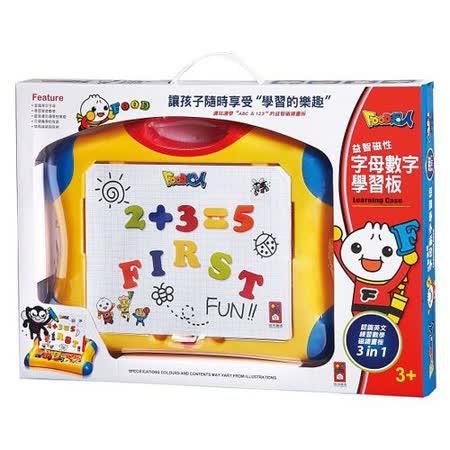 【風車圖書】Food超人益智磁性字母數字學習板(購物車)