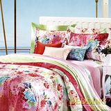 【BEDDING】春色滿園 雙人加大四件式天絲兩用被床包組  60支系列100%TENCEL