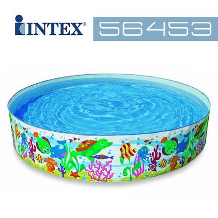 【INTEX】小黃魚免充氣水池 (56453)