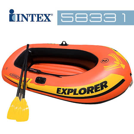 【INTEX】二人船+48吋船槳+迷你打氣筒 (58331)