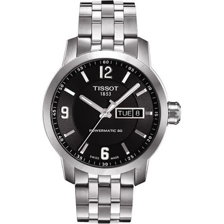 TISSOT PRC200 Powermatic 80 時尚菁英機械腕錶(黑/39mm) T0554301105700
