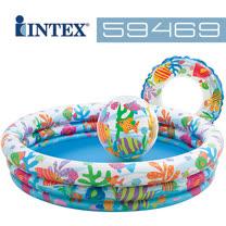 【美國INTEX】<br>歡樂充氣泳池組