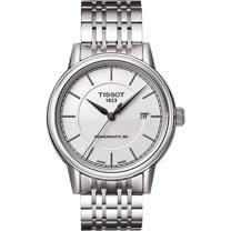 TISSOT Carson Powermatic 80 寧靜時光機械腕錶(銀/39mm) T0854071101100