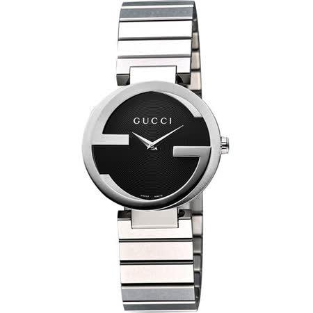 【私心大推】gohappy 線上快樂購GUCCI Interlocking-G 雅緻時尚女錶-黑 YA133511好用嗎高雄 大園 百