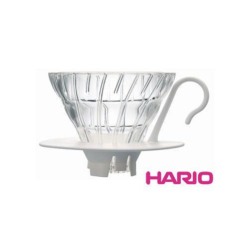 HARIO V60白色01好握玻璃濾杯1~2杯 VDGN~01W