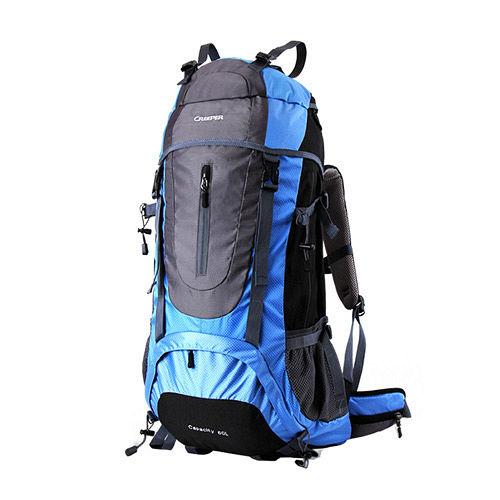 PUSH!登山户外用品60L专业型登山背包自助旅行背包双肩背包赠防雨罩2014曙光