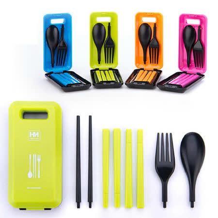 PUSH!餐具 炫彩多功能餐具組有 筷子湯匙叉子