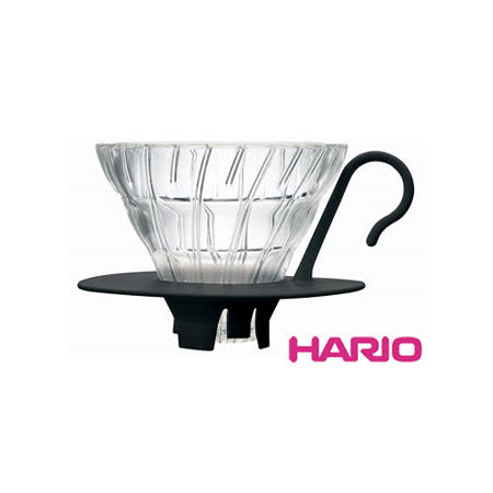 HARIO V60黑色01好握玻璃濾杯1~2杯 VDGN-01B