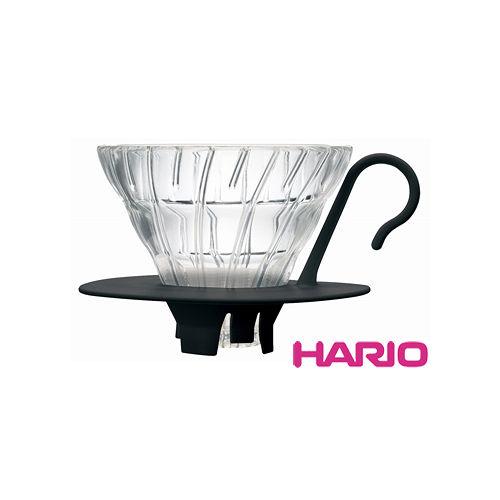 HARIO V60黑色01好握玻璃濾杯1^~2杯 VDGN~01B