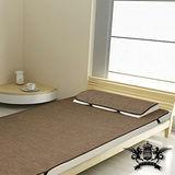 [黎安思-Zean`s] 涼感!和風紙纖蓆-單人加大套組-含枕套X1 (咖啡色)