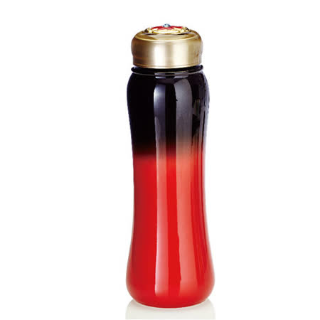 乾唐軒活瓷吉星幸福一手瓶( 小 / 單層 / 黑紅 / 施華洛世奇元素 )