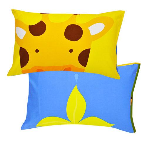 義大利Fancy Belle~繽紛動物園~貢緞信封枕套~~2入
